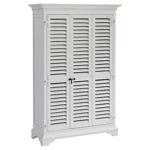 Liquor Locker Bar Cabinet, White