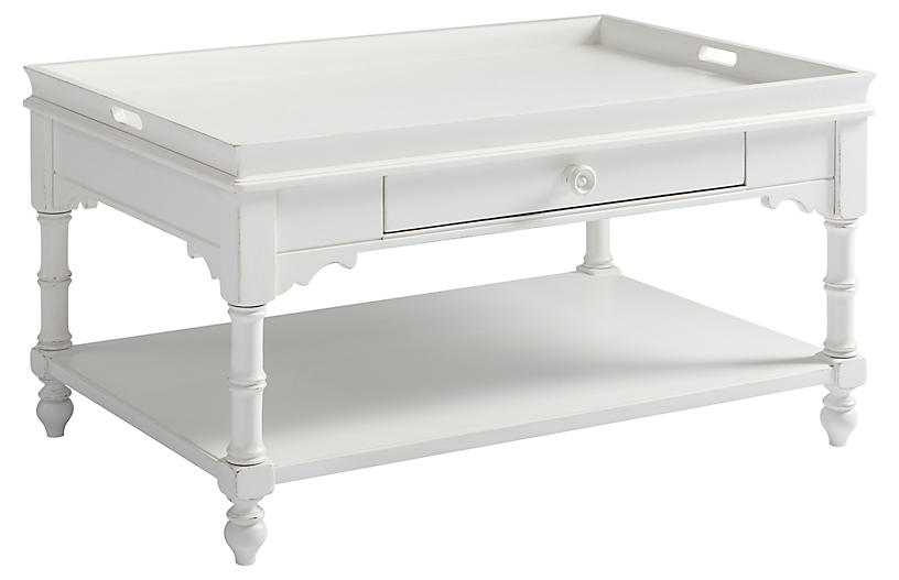 Cottage Display Coffee Table, White