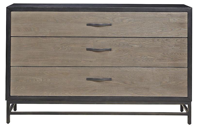 Spencer 3-Drawer Dresser, Gunmetal