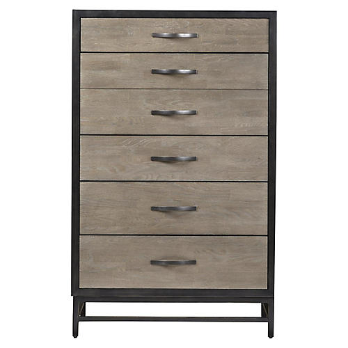 Spencer Tall Dresser, Espresso/Black