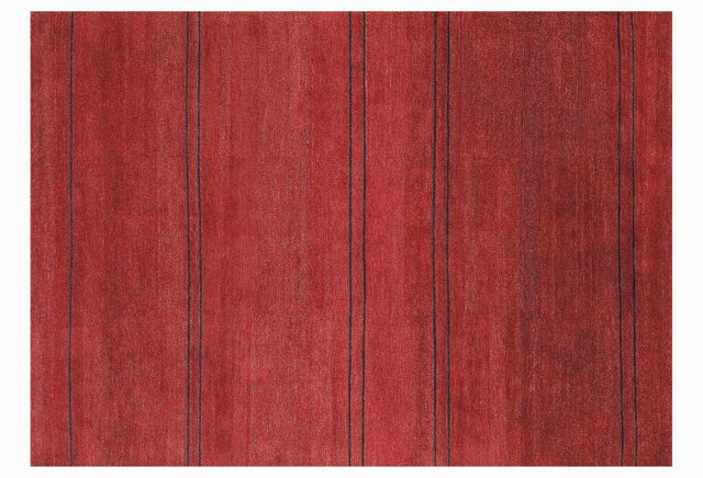 Fade Rug, Red/Ebony