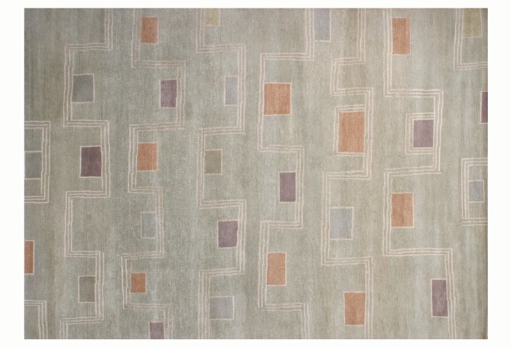 2' x 3' Juncture Rug, Pale Green