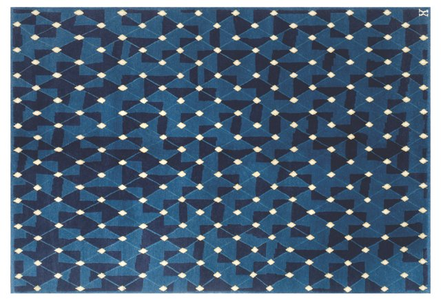 "4'11"" x 7'1"" Night Sky Rug, Cobalt/Navy"