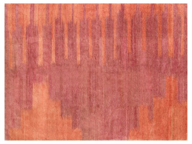 Piano Rug, Dusty Violet/Apricot