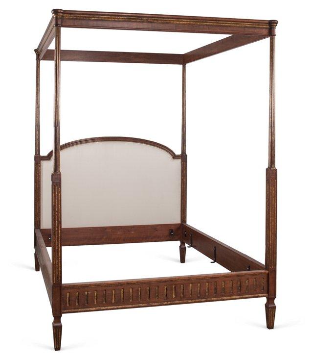 Louis XVI Canopy Queen Bed, Silk