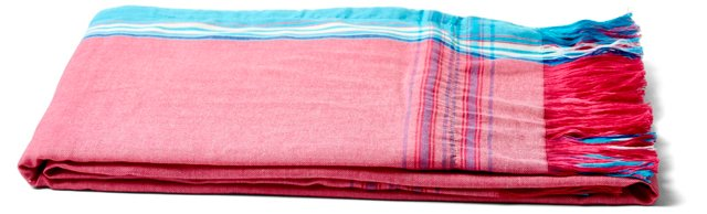 Sarong Towel, Solid Pink/Blue/White