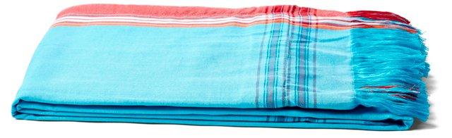 Surf Sarong Towel, Pink/Turquoise