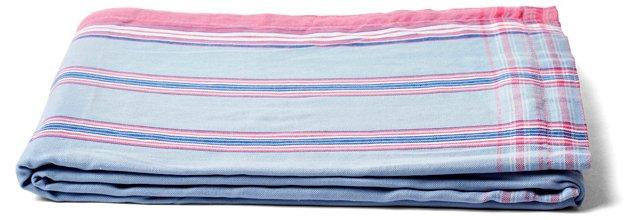 Prep Sarong Towel, Pink/Blue
