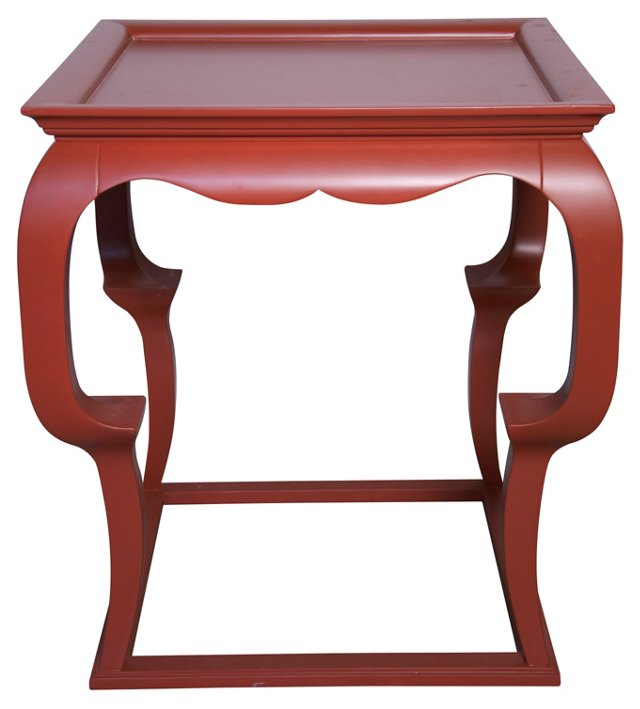 Cassio Side Table, Red