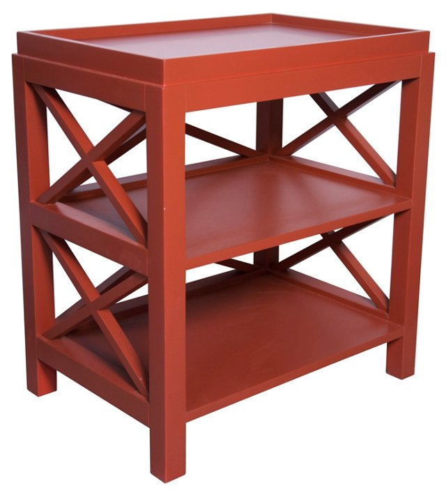 Sullivan Side Table, Red