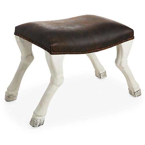 Claw-Leg Saddle Stool