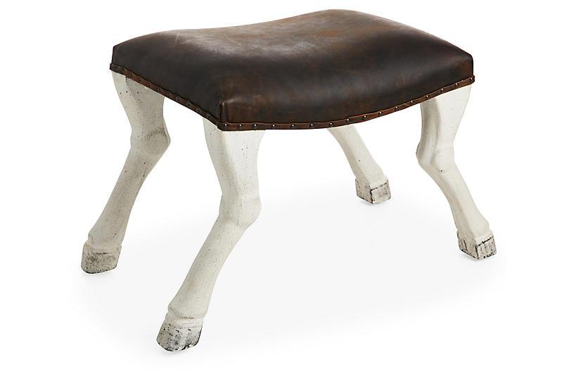 Claw-Leg Saddle Stool