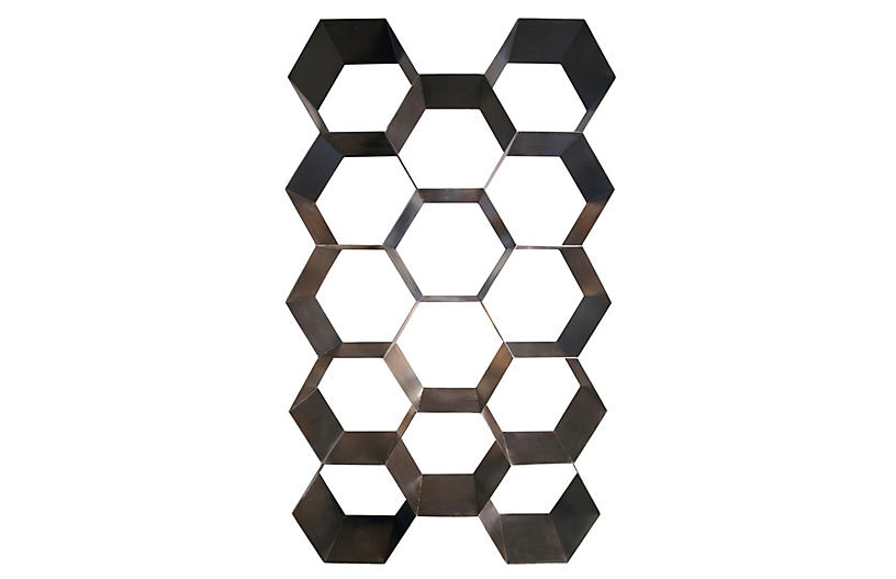 Bee Hive Bookcase - Noir