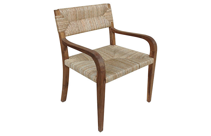 Bowie Rush Armchair, Natural