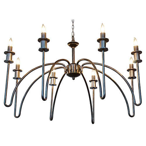 Exton 8-Light Chandelier, Silver