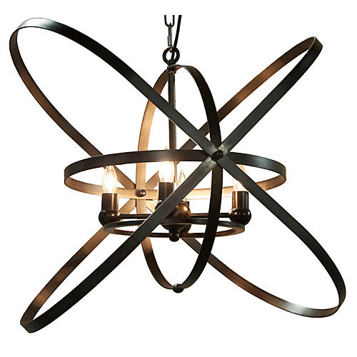 Sassari 4-Light Pendant, Bronze