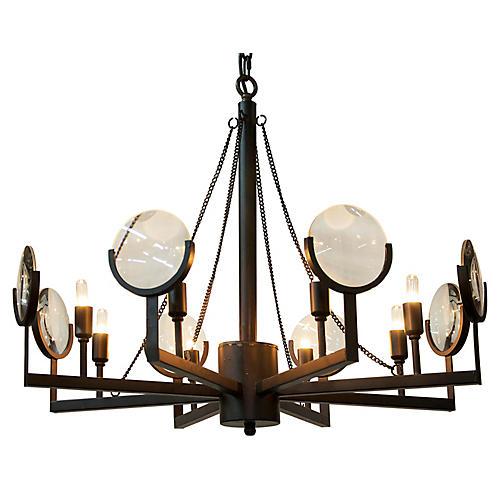 Pia 8-Light Pendant, Bronze