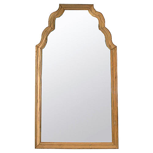 "Teak 53""x94"" Floor Mirror, Natural"