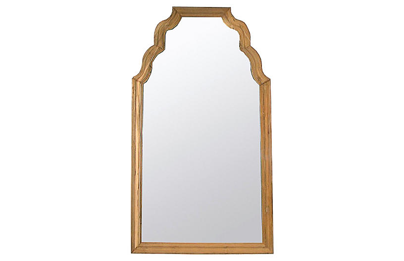 Teak Floor Mirror, Natural