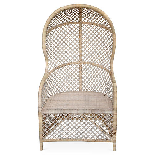 Gigi Canopy Chair, Beige