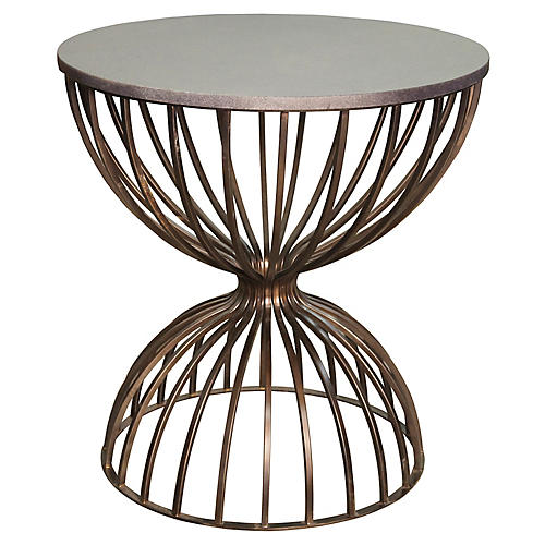 Hourglass Side Table, Bronze