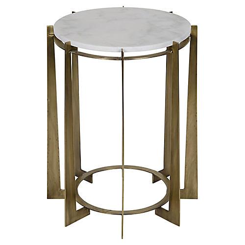 Herbert Side Table, Brass