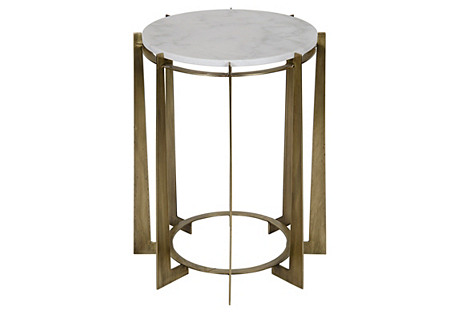 Herbert Side Table, Brass