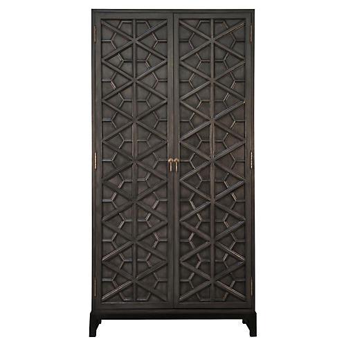 "Maharadscha 100"" Cabinet, Black"