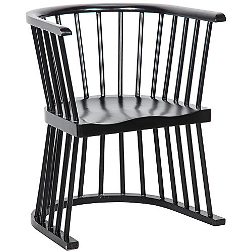 Bolah Chair, Hand-Rubbed Black