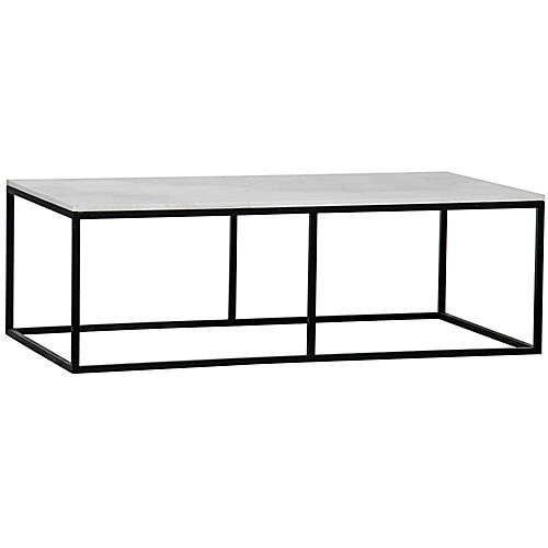 "Lois 56"" Coffee Table, Black"