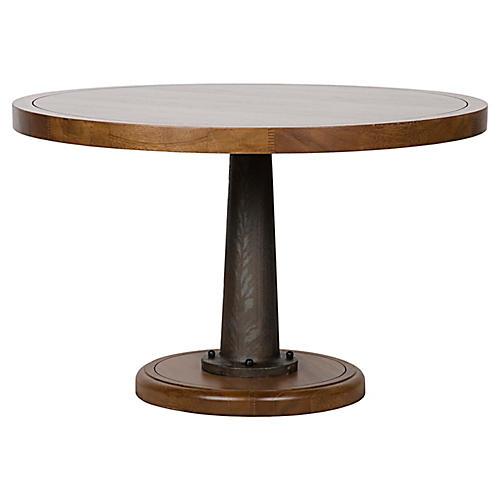 "Yacht 48"" Round Table, Dark Natural"