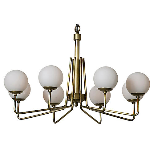 Ray's Chandelier, Brass