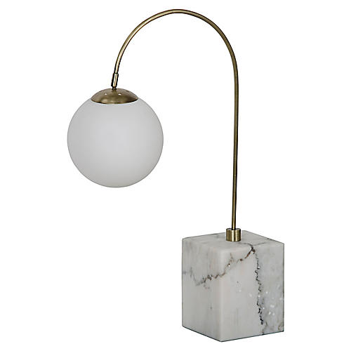 Solidity Desk Lamp, Brass