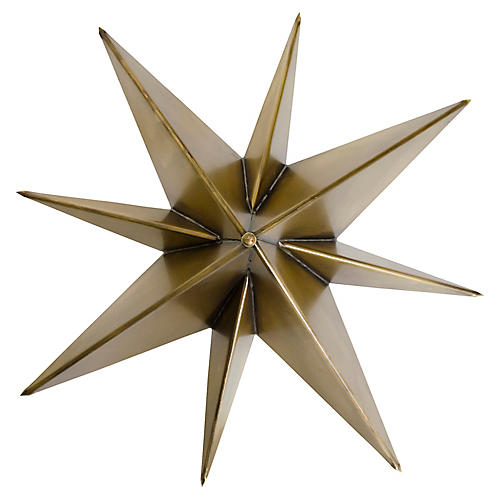 Star Sconce, Brass