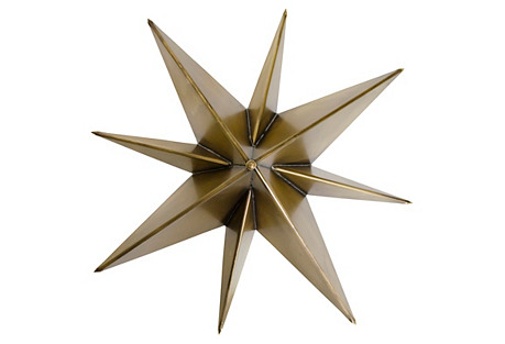 Star Sconce, Brass