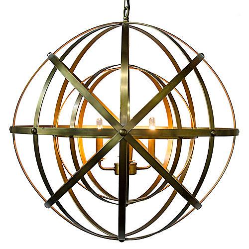 Alchemy Pendant, Brass