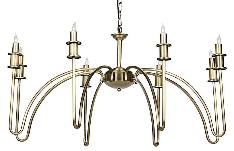 Exton Chandelier, Brass