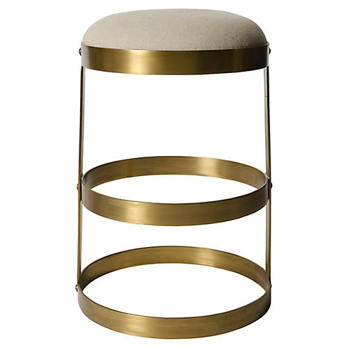 Doré Barstool, Antiqued Brass