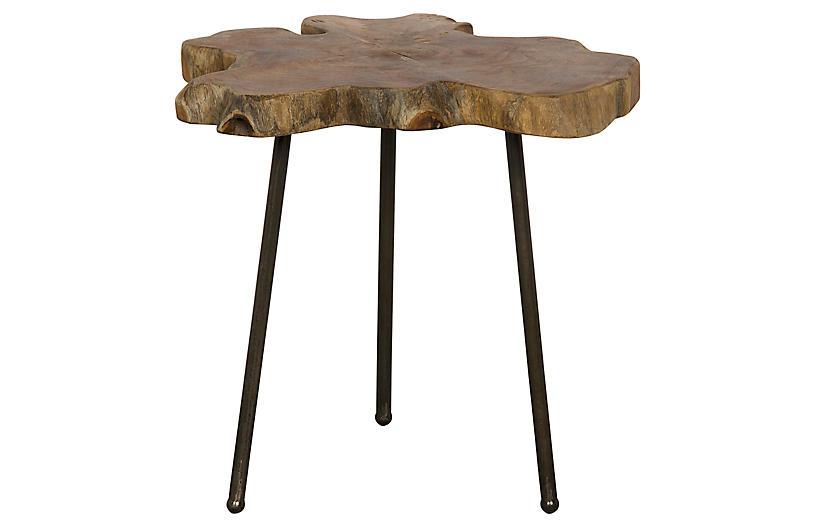 Slab Slice Side Table - Natural/Black - Noir