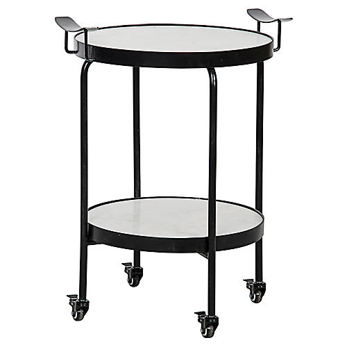 Frances Bar Cart, Black/White