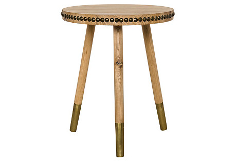 Kemble Ferrules Side Table, Natural