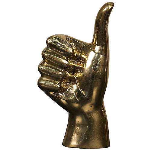 "9"" Thumbs-Up Figurine, Gold"