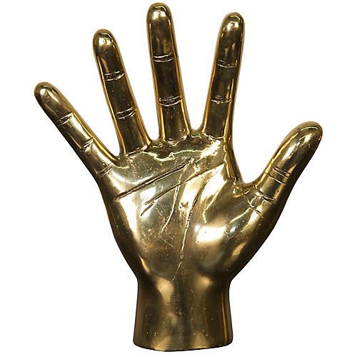 "9"" Open-Hand Figurine Gold"