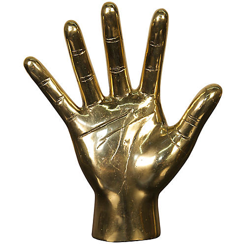 "9"" Open-Hand Figurine Gold"
