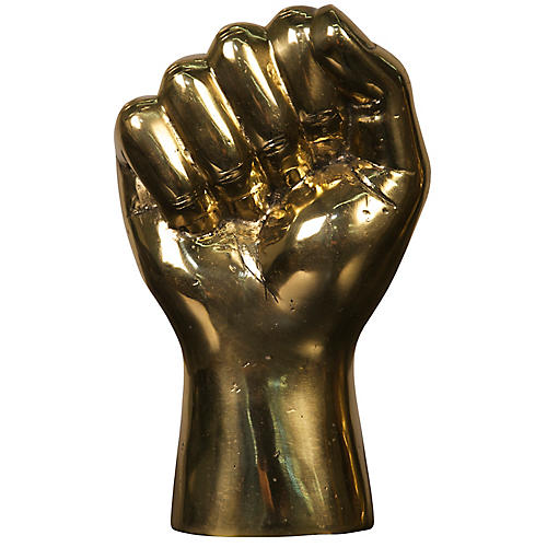 "8"" Solidarity-Fist Figurine, Gold"