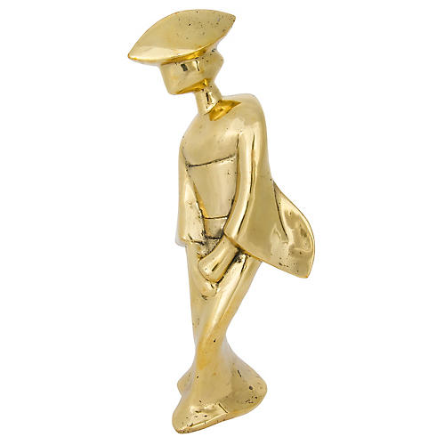 "14"" Aiko Figurine, Gold"
