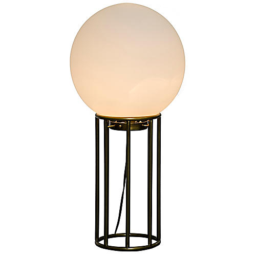 Match Table Lamp, Brass/Frosted