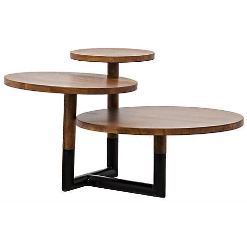Boogie Coffee Table, Walnut/Black