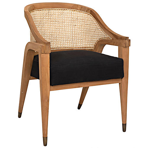 Chloe Accent Chair, Black
