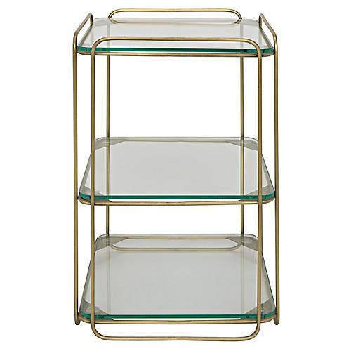 Eva Side Table, Brass